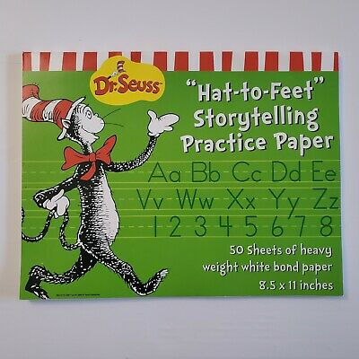 Dr Seuss Paper (Eureka Dr. Seuss Hat To Feet Storytelling Practice Paper 50 Sheets 8.5 x 11)