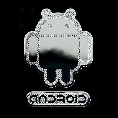 Android Androbot Metal Decal sticker For Desktop Laptop, Tablet PC