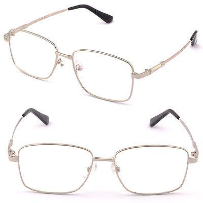 Large Square Men Memory Titanium Frame Bendable Prescription Lens Glasses (Bendable Prescription Glasses)