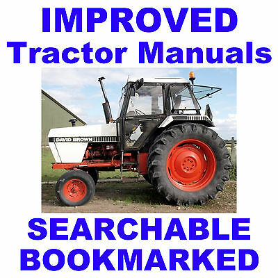 Case David Brown 1494 1594 Tractors Repair Shop Service Manual - Searchable Cd