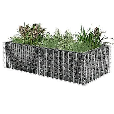 Garden Planter Wall Stone Basket Gabion Mesh Box Fence New 180 x 90 x 50 CM U6R7