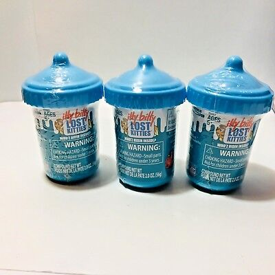 Hasbro ITTY BITTY LOST KITTIES E-Comm Bundle (3 Blind Bottles) Series 1 Mix 2