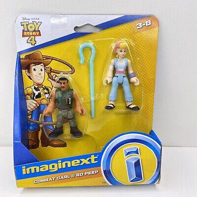 Imaginext Disney Pixar Toy Story 4 Bo Peep & Combat Carl 2-Pack Figure Set