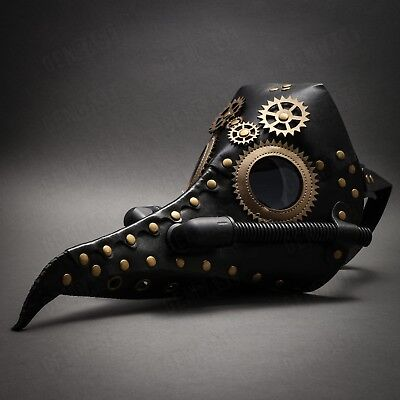 NEW Steampunk Plague Doctor Mask Long Nose for Halloween Masquerade Costume