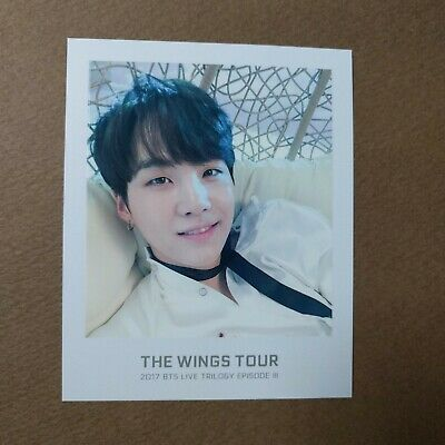 [Official] The Wings Tour Trilogy Ticket Polaroid Photocard [SUGA]