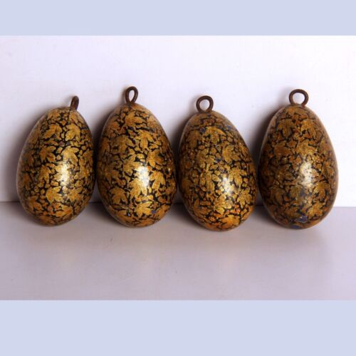 Vintage Wooden Fine painted small Christmas tree Ornaments decorative Egg Shape