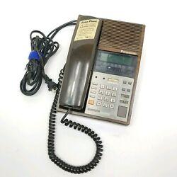 Vintage Panasonic Telephone Radio Alarm Clock RC-T350 Retro Brown Easa-Phone