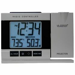 Projection Alarm Clock Radio Led Ceiling Time Digital Electric Weather Projected