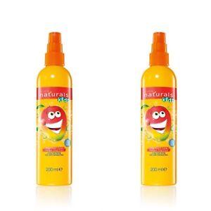 2 x Avon Naturals Kids Magnificent Mango Hair Detangling Spray NEW