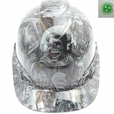 Hard Hat Custom Hydro Dipped Dealers Choice Steel Grey Bullard Osha Approved