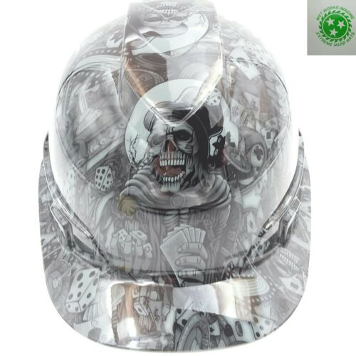 Hard Hat custom hydro dipped ,DEALERS CHOICE STEEL GREY BULLARD OSHA APPROVED