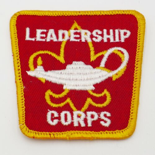 Vintage Leadership Corps Boy Scout Patch Red with Yellow Trim BSA
