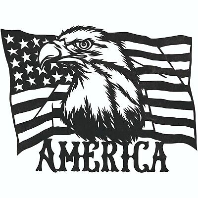 American Eagle Dxf Sign For Plasma Laser Waterjet Router Plotter Cut Vector Cnc