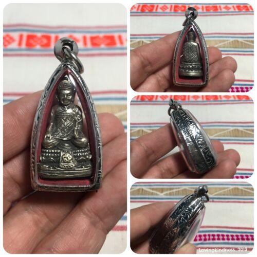 Beautiful Phra Buddha Statue Solid Zen Chinese Amulet  Luck Anti Animosity