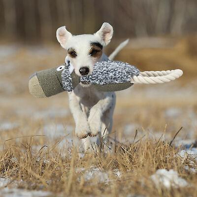Hundespielzeug Wolf Zerrspielzeug Hund Quietschspielzeug Hundekuscheltier grau