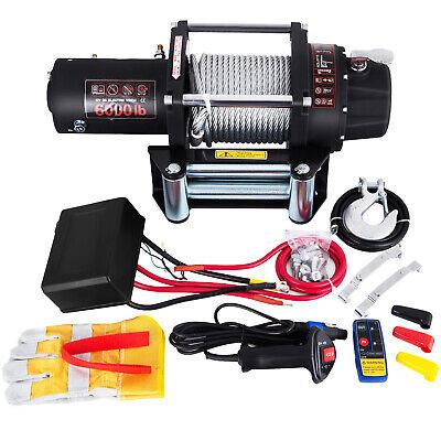 Cabrestante Eléctrico 12V Winch Sintético Cuerda para Winche con ATV UV 2721KG