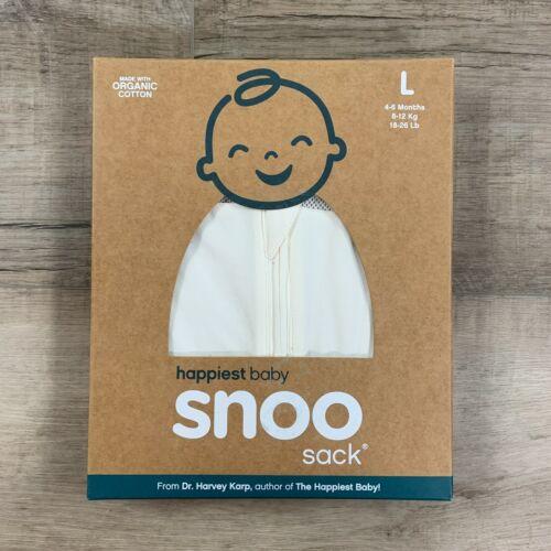NEW Snoo Sack Sleep Sack Swaddle Baby Organic Cotton White Size Large