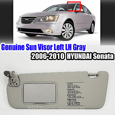Genuine 852013K420QS Sun Visor Left LH Gray For Hyundai Sonata 2006-2010