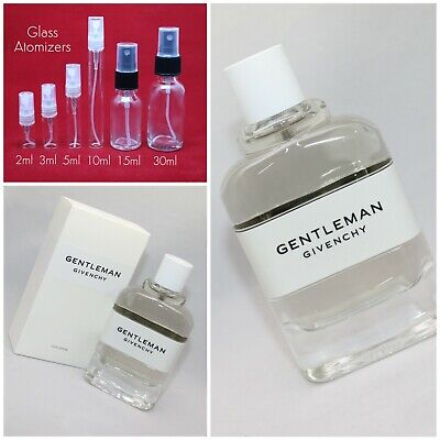 Givenchy Gentleman COLOGNE EDT Authentic SAMPLE 2ml 3ml 5ml 10ml FREE (Gentleman 2)