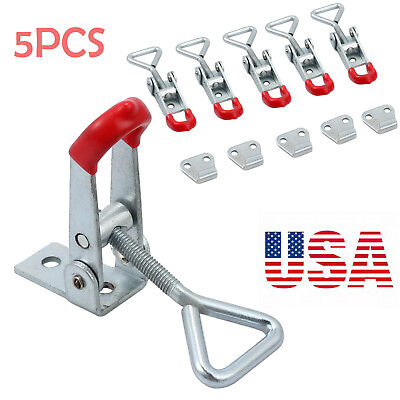 5PCS Size S Adjustable Cupboard Metal Lever Handle Catch Latch Lock Clamp Hasp
