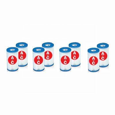 Intex Easy Set Swimming Pool Type A or C Filter Replacement Cartridges (4 Pack)