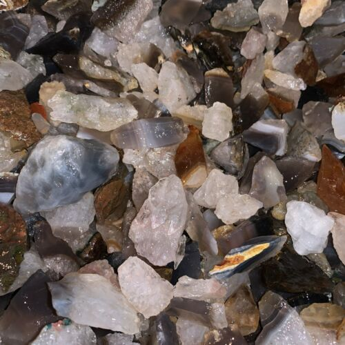 2000 Carat Lots of Brazilian Agate Rough - Plus a FREE Faceted Gemstone