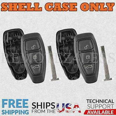 2 for 2013 2014 2015 2016 2017 Ford C-Max Remote Shell Case Key Fob Cover