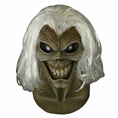 Mens Official Iron Maiden Killers Eddie Latex Mask Album Music Halloween Costume (Iron Maiden Halloween)