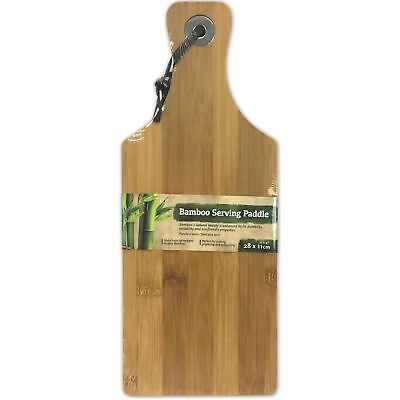 28 x 11cm Bamboo Wooden Serving Tray Cheese Paddle Chopping Board Kitchen Dish Bamboo Paddle Board