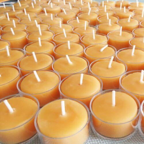 🐝 100% Beeswax Tealight Candles BULK USA Honey Tea Lights Bees Wax / Emergency