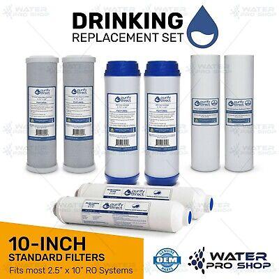 SED UDF CTO GAC 5 Stage Reverse Osmosis RO Water Filter Replacement BULK KIT