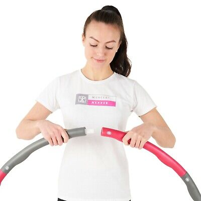 MUSCLEMENDER Weighted Gym Hula Hoop Includes Carry Bag/Exercise Ring Hoola 1.2kg