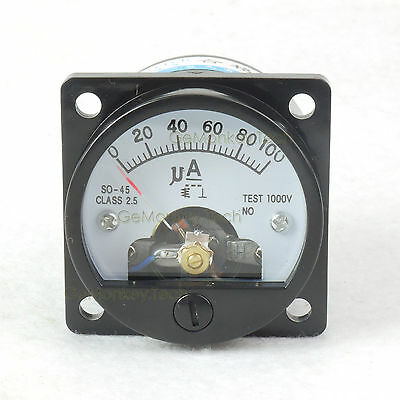 Analog Amp Current Panel Meter 100ua Dc Ammeter Microampere