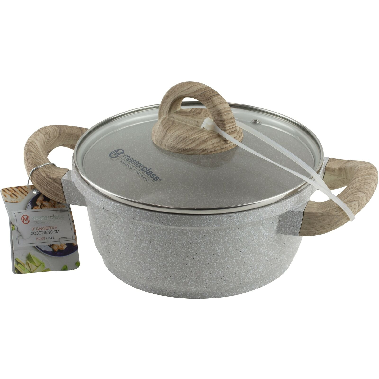 """New Masterclass 8/"""" Skillet Grey Speckled Premium Cookware"""