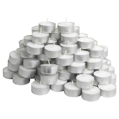 Tealight Candles Tea Light Candle 50 Pack White Unscented  Burns 4 Hours