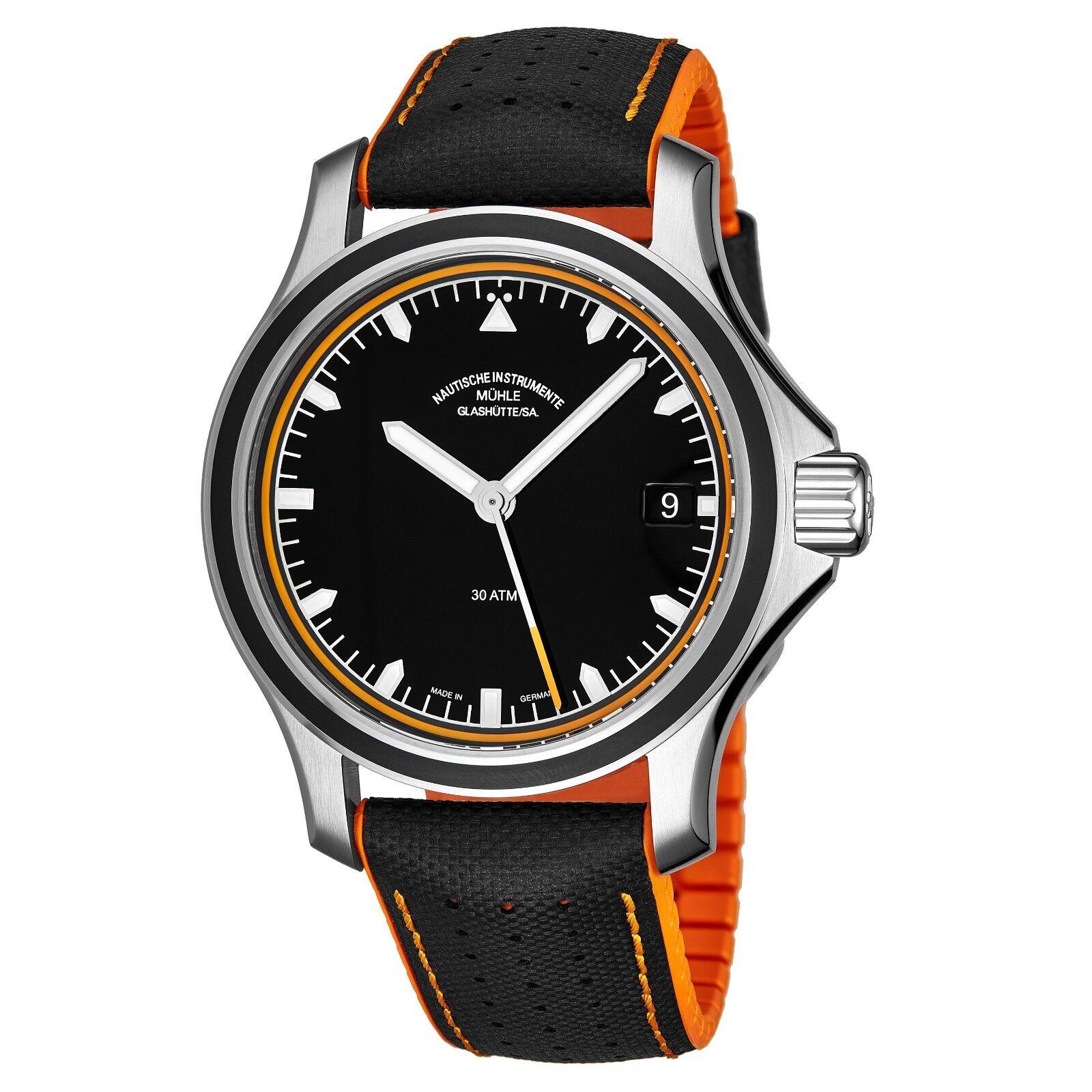 Muhle Glashutte Men's Pro MareDatum Go Rubber Strap Automatic Watch M1-42-13-NB - watch picture 1
