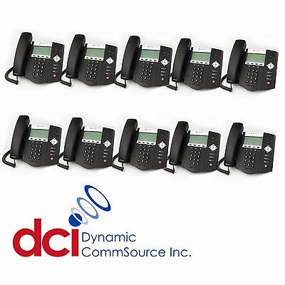 Refurbished 10 Pack Of Polycom Soundpoint Ip 450 Telephones Poe Free Shipping