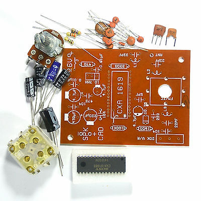 Student Project Easy Fm Radio Circuit Kit 88-108mhz With Amplifier Pcb Cxa1619