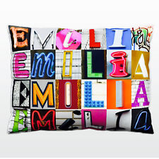 Personalized Pillow featuring the name EMILIA in photos of ...