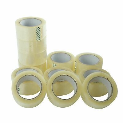 6 Rolls Clear Packing Packaging Carton Sealing Tape 2.0 Mil Thick 2 X 55 Yards