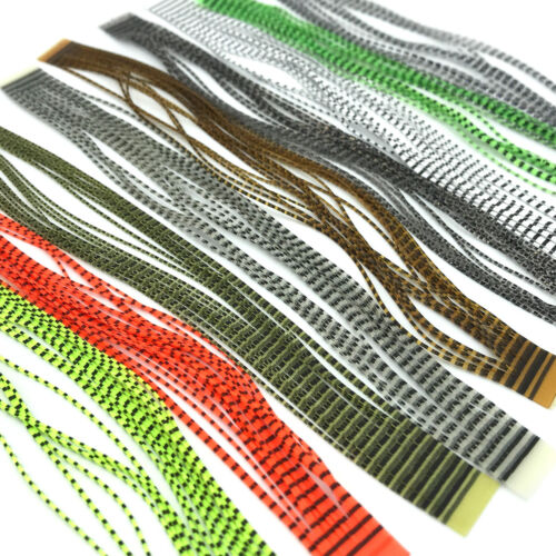 GRIZZLY MICRO LEGS - Hareline Fly Tying Silicone Rubber Legs Fishing Lures Jigs