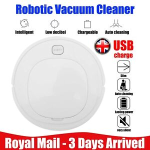 3 IN 1 Auto Smart Robot Vacuum Clean Strong Suction Floor Sweeper Rechargeable
