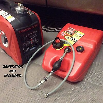 Predator 2000 Watt Inverter Generator 6 Gallon Extended Run Fuel System Read