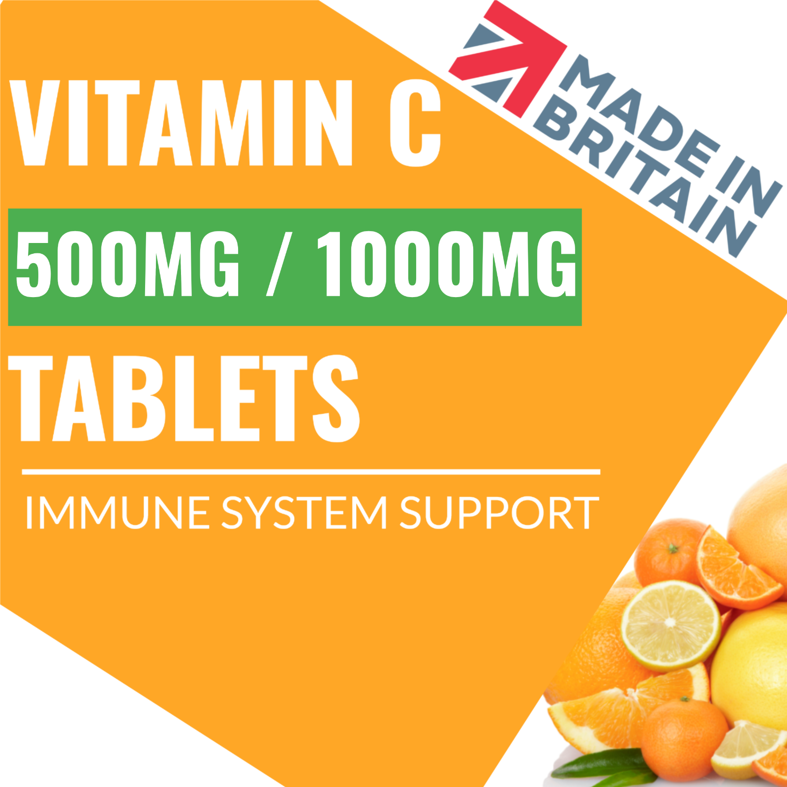 Vitamin C 1000mg Tablets HIGH STRENGTH Immune Support Health Antioxidant UK Made