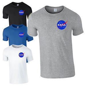 Nasa Space Astronaut T Shirt Cool Geek Nerd Star Logo