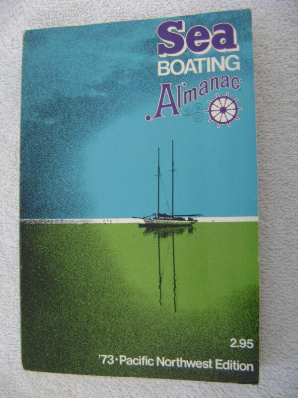 1973 SEA BOATING ALMANAC OLD ADVERTIZING INSIDE