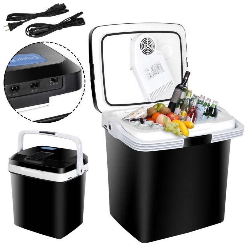 27.5QT Iceless Thermoelectric Cooler Travel Mini 12V Fridge Car Freezer Lockable