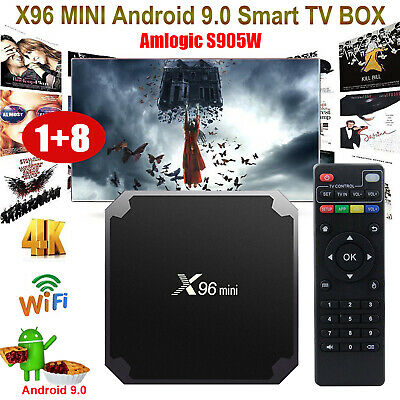 X96MINI Android 9.0 Smart TV BOX 2+16G Quad Core 4K Media HD