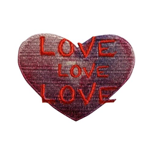 Lennon & McCartney Love Heart Dye Sublimation Iron On Patch     055-N
