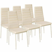 Dettagli su Set di 6 sedia per sala da pranzo tavolo cucina robusto eleganti moderne nero nu